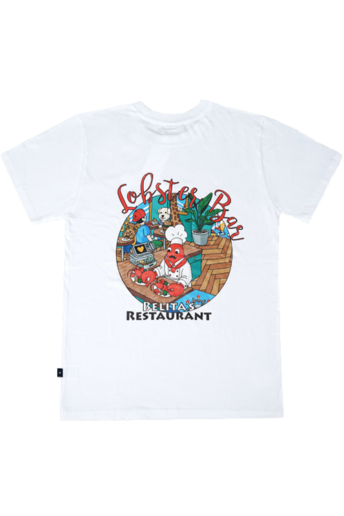 Lobster White T-shirts (for Adult) 60%할인가격