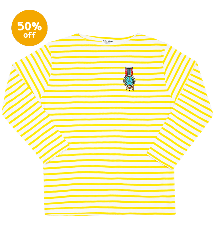 James Stripe Yellow Medal T-Shirts (for MOM&DAD) 50%할인가격