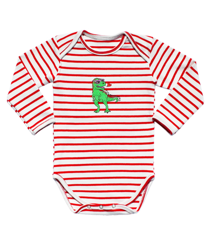 Red Stripe Tyranno Bodysuit 50% SALE