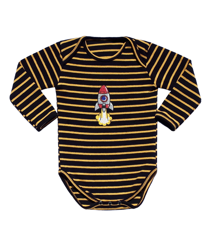 Navy Stripe Rocket Bodysuit 50% SALE
