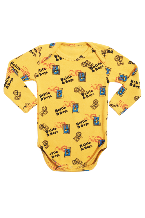 Yellow Stamp Bodysuit 50%할인가격