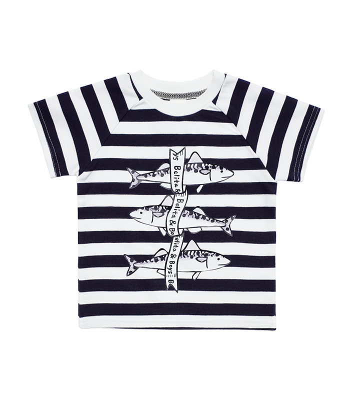 Fish Navy Stripe t-shirt 50%할인가격