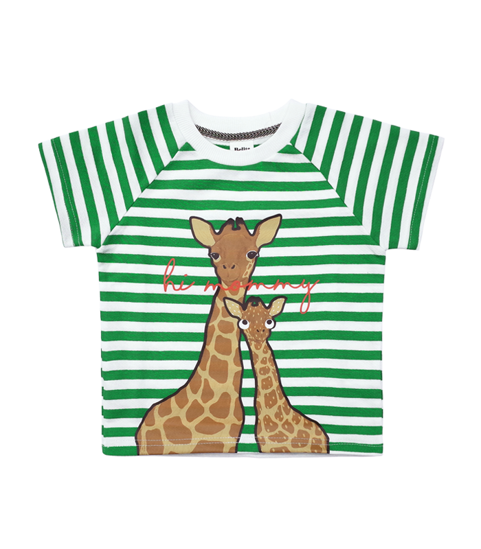 Green Stripe Giraffe t-shirt 50%할인가격