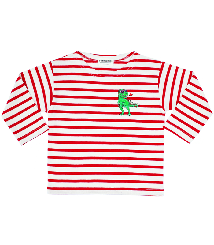 James Stripe Red Tyranno T-Shirts 50%할인가격