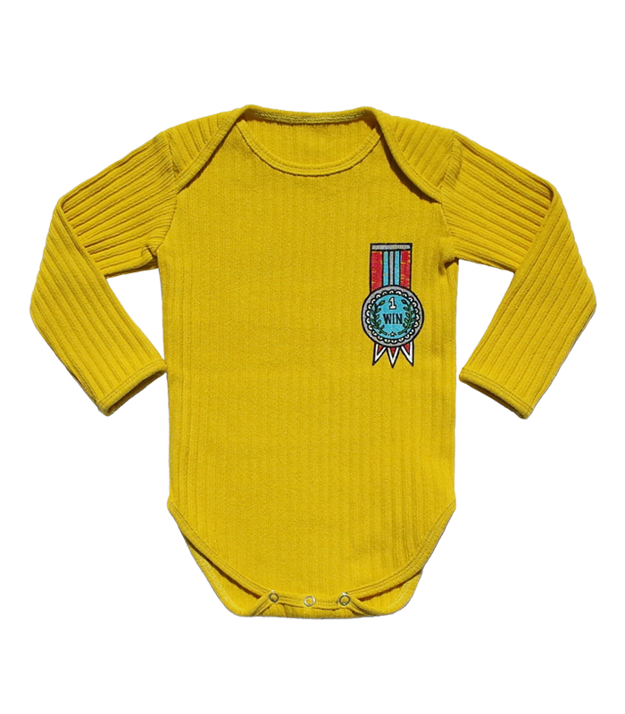 Yellow Golgi Medal Bodysuit 50%할인가격