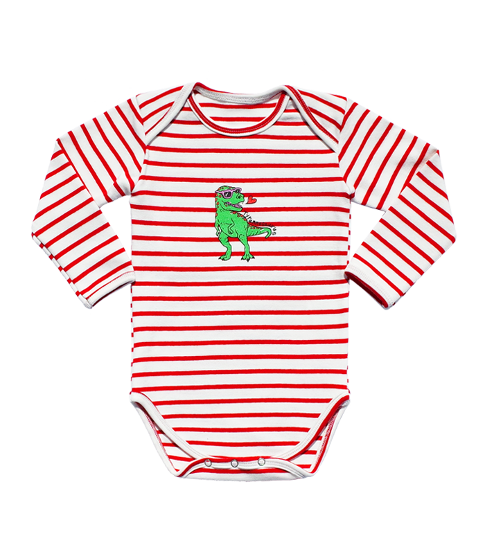 Red Stripe Tyranno Bodysuit 50%할인가격