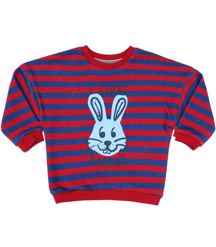 Love Rabbit Stripe Sweatshirts50%할인가격