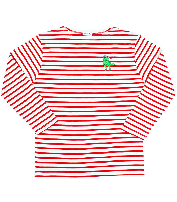 James Stripe Red Tyranno T-Shirts (for MOM&DAD) 50%할인가격