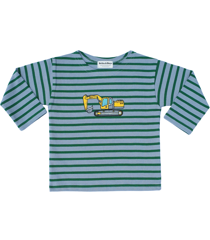 James Stripe Green Poclain T-Shirts 50%할인가격