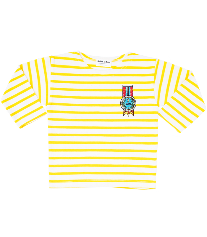 James Stripe Yellow Medal T-Shirts 50%할인가격