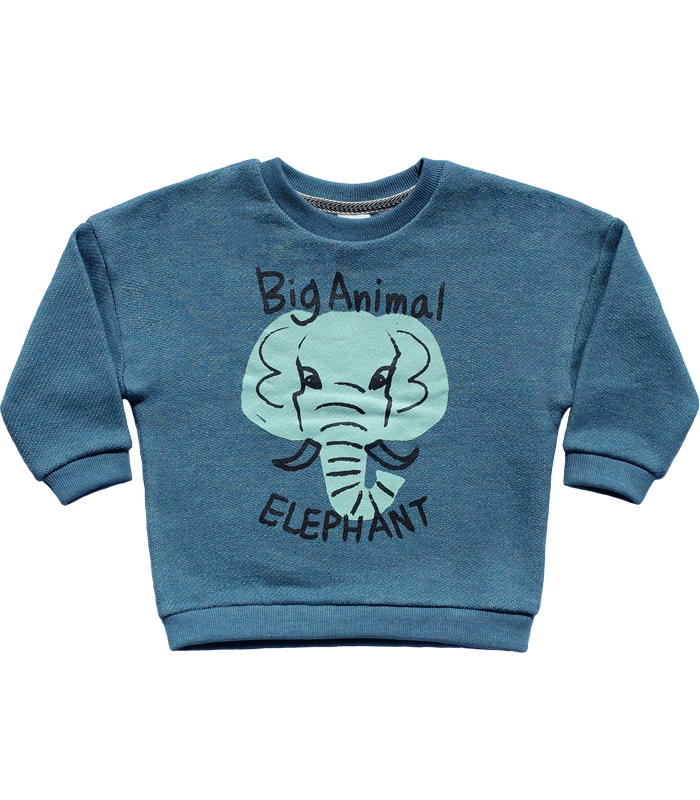 Blue Elephant Knit Sweatshirts 50%할인가격
