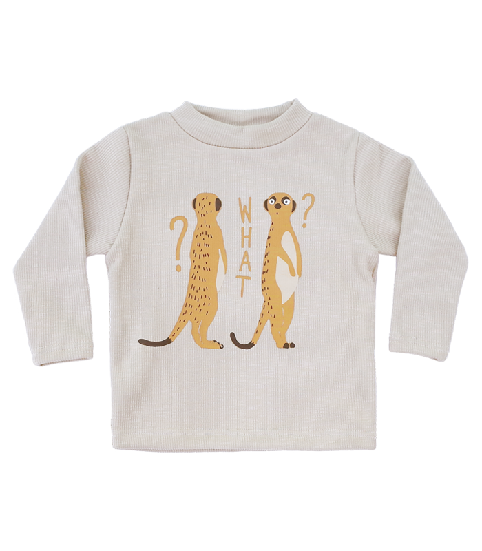 Ivory Meerkat Golgi High-neck T-shirts 50%할인가격