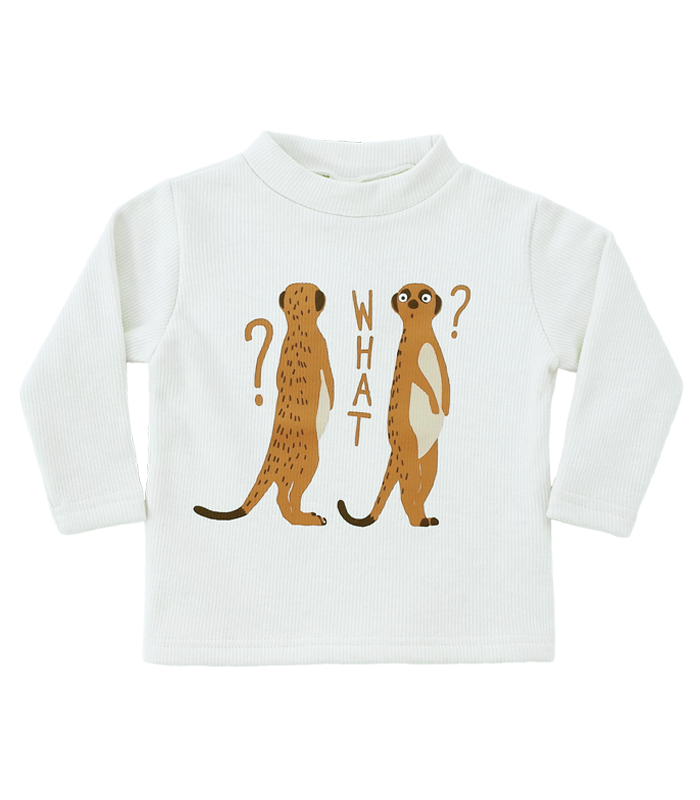 White Meerkat Golgi High-neck T-shirts 50%할인가격