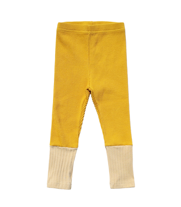 Spring Yellow Leggins Pants
