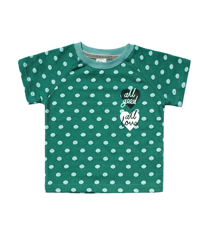Dots Green short sleeve