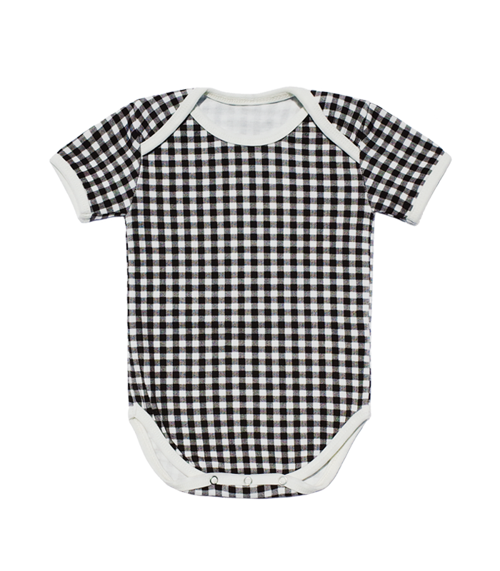 Black Check Bodysuit