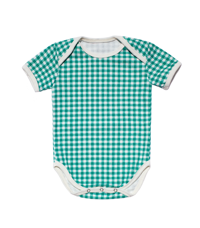 Green Check Bodysuit
