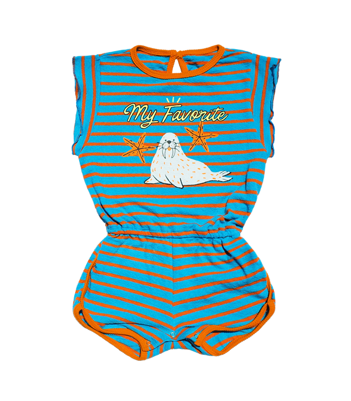 Seal Blue Towel Jumpsuit