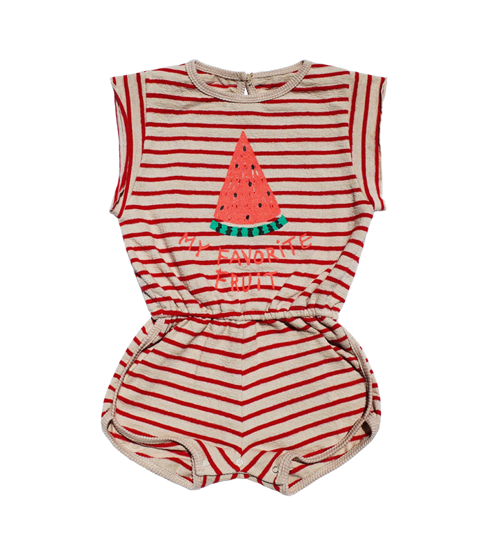 Watermelon Red Towel Jumpsuit