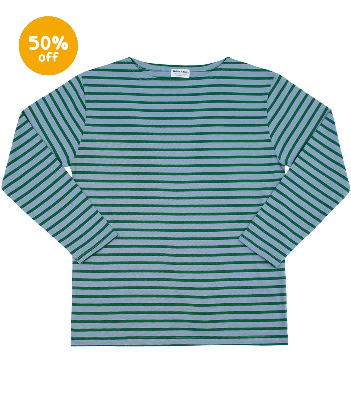 James Stripe Green Poclain T-Shirts (for MOM&DAD) 50%할인가격