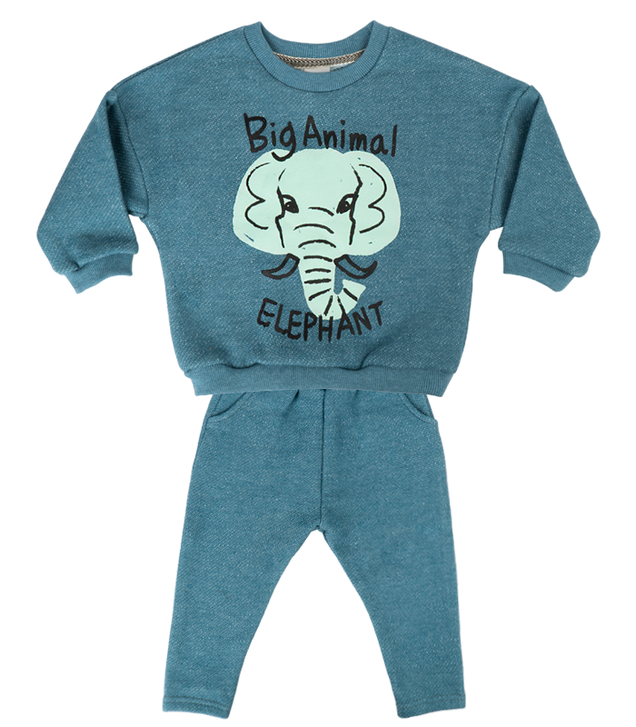 [SET] New Blue Elephant Knit