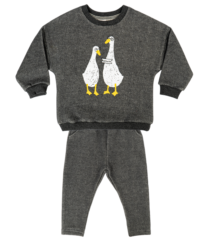 [SET] New Grey Duck Couple Knit