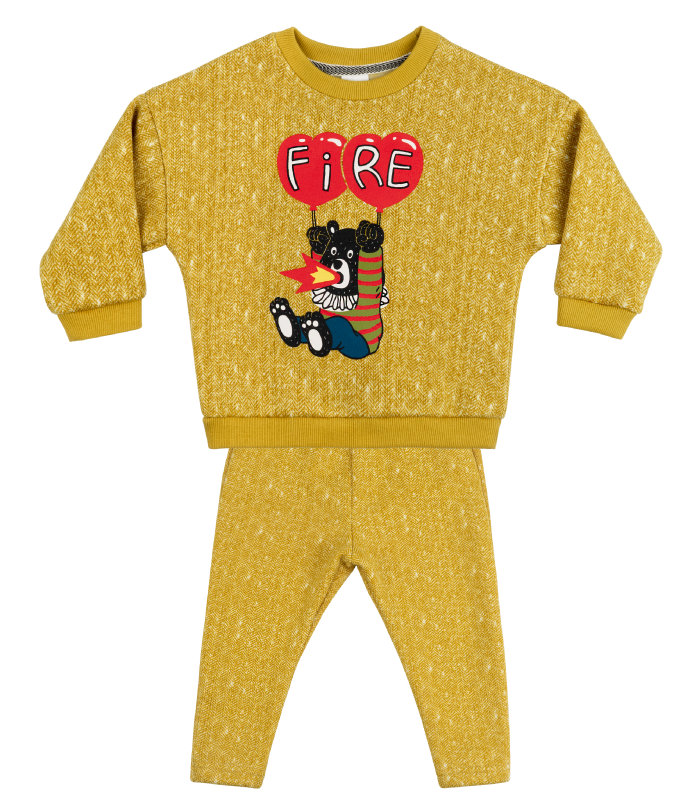 [SET] Yellow Balloon Bear Knit