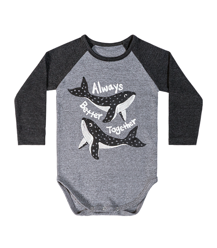 Dark Grey Whale Bodysuit