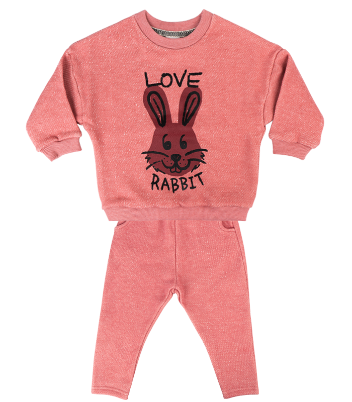 [SET] New Pink Rabbit Knit