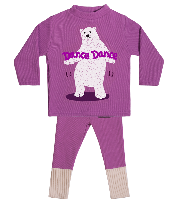 [SET] Purple Polar Bear High-neck