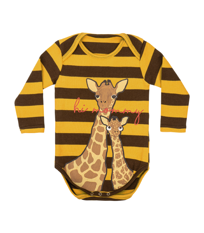 Brown Stripe Giraffe Bodysuit