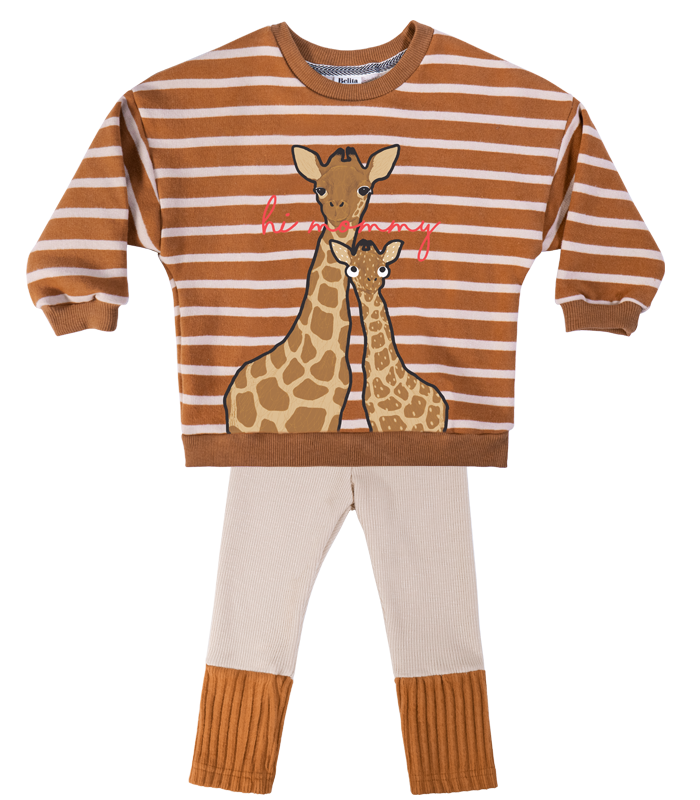 [SET] Brown Giraffe Stripe