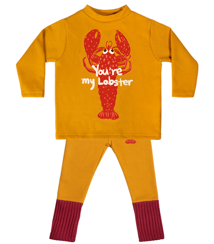 [SET] Yellow Lobster High-neck